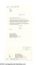 Golf Collectibles:Autographs, 1994 Arnold Palmer Signed Letter to President George H.W. ...