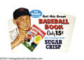 "Baseball Collectibles:Others, 1954 Leo Durocher ""Sugar Crisp"" Advertising Sign ""Leo the ..."