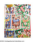 Baseball Cards:Other, 1969 Topps Team Posters Complete Set Larger than its older ... (24 pieces)