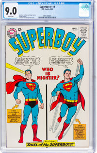 Superboy #119 (DC, 1965) CGC VF/NM 9.0 White pages