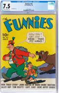 Golden Age (1938-1955):Miscellaneous, The Funnies #33 (Dell, 1939) CGC VF- 7.5 Cream to off-white pages....