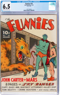 The Funnies #37 (Dell, 1939) CGC FN+ 6.5 Cream to off-white pages