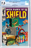Silver Age (1956-1969):Superhero, Nick Fury, Agent of S.H.I.E.L.D. #1 (Marvel, 1968) CGC VF- 7.5 White pages....