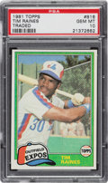 Baseball Cards:Singles (1970-Now), 1981 Topps Traded Tim Raines Rookie #816 PSA Gem Mint 10. ...