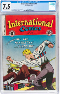 International Comics #3 (EC, 1947) CGC VF- 7.5 Off-white to white pages