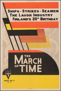 """Movie Posters:Documentary, The March of Time (RKO, 1937). Fine/Very Fine on Linen. One Sheet (27"""" X 41"""") Jim Nash Artwork, Volume 4 No. 5. Documentary...."""
