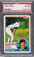 Baseball Cards:Singles (1970-Now), 1983 Topps Wade Boggs #498 PSA Gem Mint 10. ...