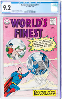 World's Finest Comics #114 (DC, 1960) CGC NM- 9.2 Off-white to white pages