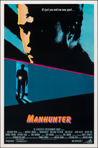 """Manhunter & Other Lot (DeLaurentis, 1986). Rolled, Very Fine. One Sheets (2) (27"""" X 41"""") SS. Thriller..."""