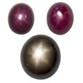 Estate Jewelry:Unmounted Gemstones, Unmounted Star Ruby & Sapphire . ... (Total: 3 Items)