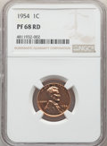 Proof Lincoln Cents: , 1954 1C PR68 Red NGC. NGC Census: (392/58). PCGS Population: (42/0). CDN: $175 Whsle. Bid for NGC/PCGS PR68. Mintage 233,30...