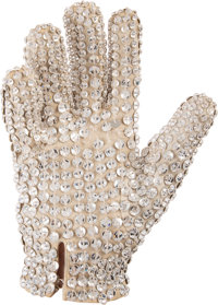 Michael Jackson Personally Owned Crystal-Studded Glove Worn on Stage During the Victory Tour (1984)