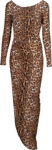 Movie/TV Memorabilia:Costumes, Khloe Kardashian Owned and Worn Leopard Print Dress....