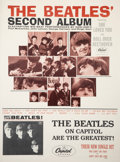 Music Memorabilia:Posters, The Beatles' Second Album Poster Matted and Framed (1964)....