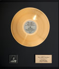 Music Memorabilia:Awards, Rita Coolidge Anytime . . . Anywhere A&M In-House Gold Sales Award Presented To Kal Rudman, Founder/Publisher of K...