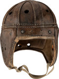 Football Collectibles:Others, 1930's Football Helmet, Pads and Pants Attributed to Benny Friedman - Once on Display in Giants Legacy Club! ...
