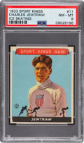 Baseball Cards:Singles (1930-1939), 1933 Sport Kings Charles Jewtraw #11 PSA NM-MT 8 - Only Two Higher. ...