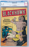 Golden Age (1938-1955):War, Blackhawk #20 (Quality, 1948) CGC FN+ 6.5 Cream to off-white pages....