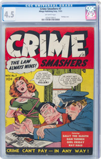 Crime Smashers #7 (Ribage Publishing, 1951) CGC VG+ 4.5 Off-white pages
