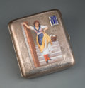 Silver & Vertu, An Austro-Hungarian Partial Gilt Silver and Enamel Cigarette Case, Budapest, late 19th-early 20th century. Marks: (2-Dianako...