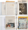 Music Memorabilia:Documents, The Beatles-Carroll James Personal Archive (First Deejay to Play the Fabs in America) with Memos, Notes & Correspondence from ...