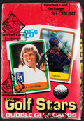 """Golf Cards:General, 1981 Donruss """"Golf Stars"""" Wax Box With 36 Unopened Packs...."""