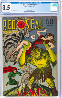 Red Seal Comics #19 (Chesler, 1947) CGC VG- 3.5 Cream to off-white pages