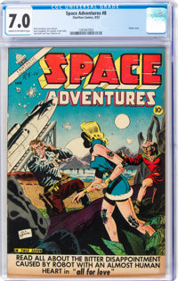Space Adventures #8 (Charlton, 1953) CGC FN/VF 7.0 Cream to off-white pages