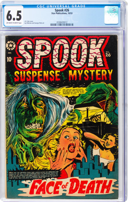 Spook #26 (Star Publications, 1953) CGC FN+ 6.5 Off-white to white pages....