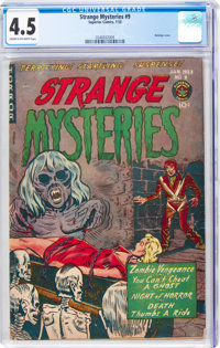 Strange Mysteries #9 (Superior Comics, 1953) CGC VG+ 4.5 Cream to off-white pages