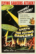 """Movie Posters:Science Fiction, Earth vs. the Flying Saucers (Columbia, 1956). Folded, Very Fine-. One Sheet (27"""" X 41"""").. ..."""