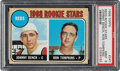 Baseball Cards:Singles (1960-1969), 1968 Topps Johnny Bench - Reds Rookies (Correct) #247 PSA Mint 9. ...