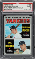 Baseball Cards:Singles (1970-Now), 1970 Topps Thurman Munson - Yankees Rookies #189 PSA Mint 9 - Only Four Higher. ...