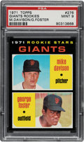 Baseball Cards:Singles (1970-Now), 1971 Topps George Foster - Giants Rookies #276 PSA Mint 9. ...