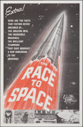 """Movie Posters:Documentary, The Race to Space (Universal International, 1962). Folded, Very Fine+. One Sheet (27"""" X 41""""). Documentary.. ..."""