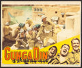 """Movie Posters:Action, Gunga Din (RKO, R-1942). Fine+. Trimmed Lobby Card (Approx. 11"""" X 13.5""""). Action.. ..."""