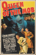 """Movie Posters:Crime, Queen of the Mob (Paramount, 1940). Folded, Fine. One Sheet (27"""" X 41""""). Crime.. ..."""