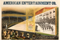 """American Entertainment Co. (c. 1898). Fine+ on Linen. Advertising Poster (41"""" X 27.25"""")"""
