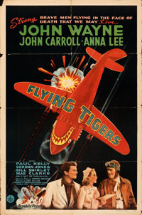 "Flying Tigers (Republic, 1942). Folded, Fine+. One Sheet (27"" X 41"") Style A"