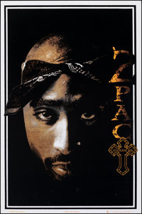 "2pac: Exodus (Scorpio Posters, 1999). Rolled, Very Fine-. Velvet Flocked Black Light Personality Poster (23"" X 35&q..."