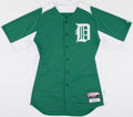 Baseball Collectibles:Uniforms, 2013 Al Kaline Team-Issued St. Patrick's Day Jersey. ...