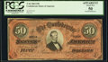 Confederate Notes:1864 Issues, T66 $50 1864 PF-8 Cr. 499 PCGS Apparent About New 50.. ...