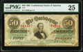 Confederate Notes:1863 Issues, T57 $50 1863 PF-16 Cr. 413 PMG Very Fine 25.. ...