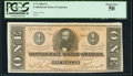 Confederate Notes:1864 Issues, T71 $1 1864 PF-12 Cr. 574 PCGS About New 50.. ...