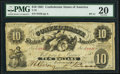 Confederate Notes:1861 Issues, T10 $10 1861 PF-11 Cr. 34 PMG Very Fine 20.. ...