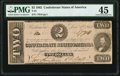 Confederate Notes:1862 Issues, T54 $2 1862 PF-6 Cr. 391 PMG Choice Extremely Fine 45.. ...