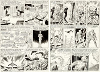 Jack Kirby and Dick Ayers Strange Tales #101 Pages 2-3 Fantastic Four Origin Recap Original Art (Marvel, 1962)