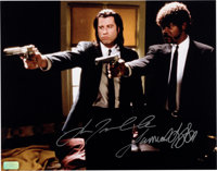 John Travolta and Samuel L. Jackson Signed Pulp Fiction Large Photo