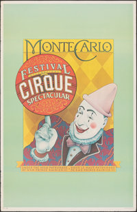 """Festival International du Cirque Spectacular (1979). Rolled, Fine/Very Fine. Poster (23.5"""" X 36""""). Miscellaneo..."""