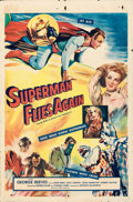 "Movie Posters:Action, Superman Flies Again (20th Century Fox, 1954). Folded, Fine+. International One Sheet (27"" X 41""). . ..."